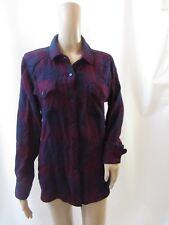 Rails Womens Marron and Navy Blue Plaid Button Down Flannel Size M
