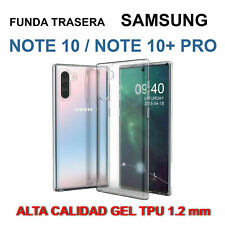 Funda Samsung Galaxy Note 10 / Note 10 Plus TRANSPARENTE GEL TPU silicona