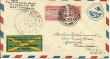 Graf ZEPPELIN -Europe Pan Amercia Flight- Rio de Janeiro 24/MAI/30 to USA