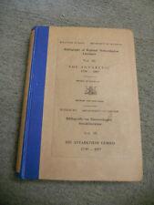Bibliography of Regional Meteorological Literature, Vol. III. The Antarctic 1739
