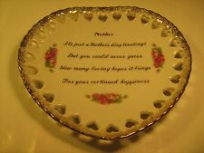 """7"""" Porcelain Collector Plate Mother'S Day Greetings [Z40]"""