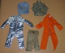 HASBRO  GI JOE  LOT OF DAMAGED CLOTHING  FOIL SPACE SUIT   C. 1970 HONG KONG