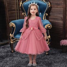 Flower Girl Dress Kids Princess Gown Wedding Bridesmaid Mesh Tutu Dresses Party