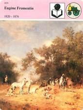 FICHE CARD Eugène Fromentin peintre écrivain 1820-1876 Cavaliers Arabes 90s