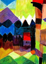 Paul Klee Föhn im Marc`schen Garten abstrakte Formen bunt Art  Gabriele Sauler