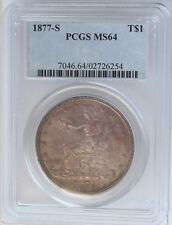1877-S Trade Silver Dollar MS64 PCGS.  Nicely Toned and scarce this nice