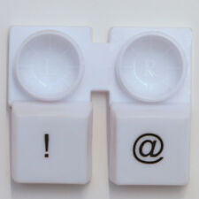 "Cute White Keyboard ""@"" & ""!"" Left & Right Contact-Lens Case Holder Container"