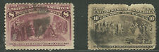 USA #s 236 & 237 Columbian Exposition 8¢ & 10¢ of 1893