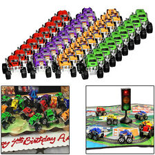 "Mini Monster Trucks 12 Pieces Pull Back Push Friction 2.3"" Monster Jam Toy Cars"