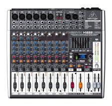 Behringer XENYX X1222USB Broadcast Mixer (WORKS but read description)