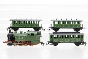 TT Personenwagen 2. Klasse Tenderlok Dampflok 3 grün analog Konvolut /J23