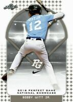 """BOBBY WITT JR. 2018 """"1ST EVER PRINTED"""" LEAF PERFECT GAME ROOKIE CARD!"""