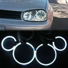 For VW GOLF 4Pcs CCFL Led Angel Eye Lamp Halo Ring Headllight Light Bulb