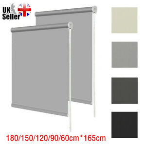 100% THERMAL BLACKOUT ROLLER BLINDS BLIND - UP TO 180cm WIDTH & MANY COLOURS UK