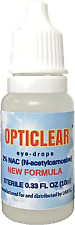 Opticlear  Eye Drops with 2% NAC & Colloidal Silver 10ml  Vial free shipping!