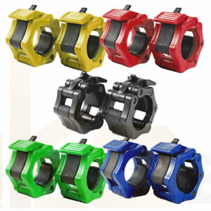 """UK Olympic 2"""" Jaw Lock 50mm Weight Bar Collars Barbell Dumbbell Locking Clamps"""