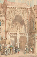 A. Cardinal - 19th Century Watercolour, Continental Market Scene