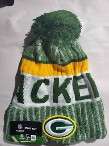 Green Bay Packers Sideline Knit Hat - New Era On Field - One size fits most