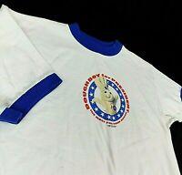 VTG 1996 Pillsbury Doughboy for President White Ringer T Shirt Cronies Sz M