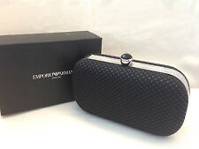 GIORGIO ARMANI Parfums Black Evening Clutch Party Pouch Bag NEW with Box