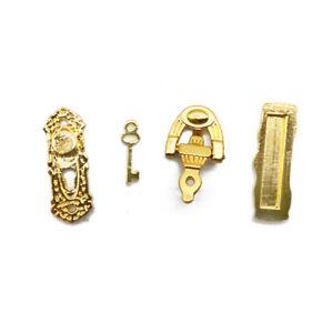 Dollhouse Mail Slot Door Holder Lock Doorknob Key Miniature DIY Accessories