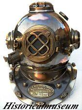 Antique U.S Navy Mark V Solid Brass & Copper Diving Divers Helmet Hm101