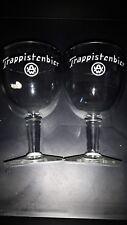 2 anciens verres bière trappiste westmalle bierglazen bier belgian beer glass