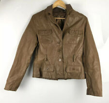 New Look Vintage Edition 12 40 Tan Brown Real Suede Leather Short Coat Jacket