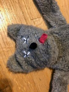 """Earl The Dead Cat Vintage Plush Stuffed Plush Doll 1985 Mad Dog Productions 28"""""""
