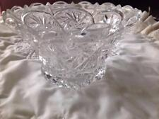Imperial Crystals 24% Lead Crystal 8 Inch Victorian Pinwheel Serving Bowl