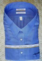 Roundtree Yorke Dress Shirt * Blue Twill * 20 - 34/35 BIG NWT