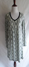 Cynthia Rowley Small Light Green Fleur de Lis Scroll Print Jersey Knit Dress