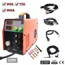 MIG 220V 200Amp welder Inverter Mig Welding Machine Stick MMA & TIG 3in1 &troch