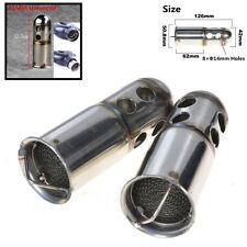 Stainless Steel Motorcycle Exhaust DB Killer Silencer Muffler For 51mm Exhaust