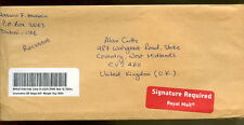 UAE 2008 Registered Airmail Cover To UK #C1234