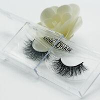 3D 1Pair Lashes Mink Natural Thick False Fake Eyelashes Eye Lashes Makeup Beauty