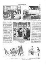 WWI Alsace Elsass Marché de Mulhouse Bagages Pont de Kehl Camions ILLUSTRATION