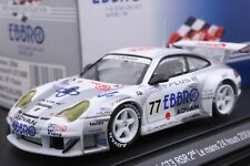 EBBRO 43600 1:43 PORSCHE 911 996 GT3 RSR GT CLASS LEMANS 2004 DIE CAST MODEL
