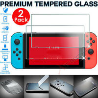 2 Pack of Genuine TEMPERED GLASS Screen Protector Covers For Nintendo Switch ..