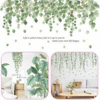 Aufkleber Grün Laub Blätter Pflanze Tattoo Wandsticker Wandaufkleber Wohnzimmer