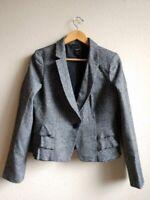 Ann Taylor Womens Career Blazer Suit Jacket Size 8 Gray