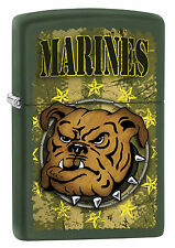 SPRING 2017!! ZIPPO Feuerzeug USMC MARINES Green matte Marine NEU OVP