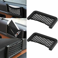 Car Auto Storage Mesh Net Resilient String Phone Bag Holder Organizer Useful
