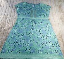 SIZE 18 MANTARAY DRESS,PRETTY PRT/COLOURS/HIGH W,STRETCH,SCOOP NECK.WORN ONCE