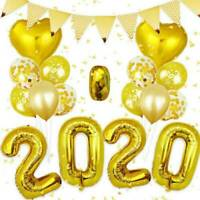 "16"" 2020 Happy New Year Number Gold Foil Balloons Eve Party Decor Christmas"