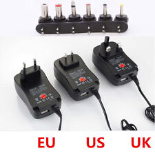 Adjustable AC/DC Power Adapter Voltage Converter 100-240V to 3-12V +USB Output