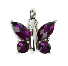 Butterfly Rhinestone Cremation Keepsake Memorial Ash Urn Pendant Necklace