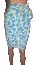 Chic floral-print silk side-zipped&wrapped self-tied skirt-IT44,UK12,US10,F/B40