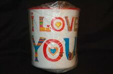 Tupperware New One Touch Large I LOVE YOU Storage Valentine Canister Leak Proof