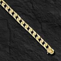 14k Solid Yellow Gold Men's Curb Link chain/necklace  6.5 mm  43 grams 18""